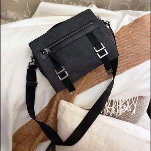 Auth. Gucci RARE Dark Denim Small Messenger Bag